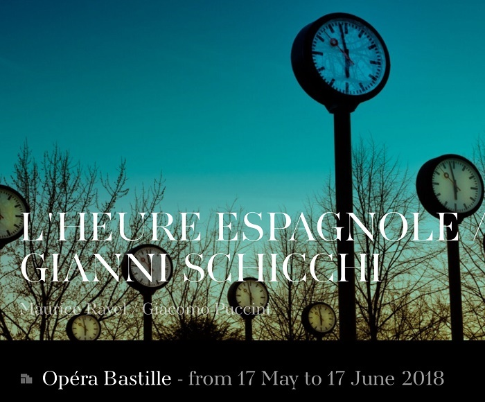 A distinct whiff of commedia dell'arte pervades this programme. L'HEURE ESPAGNOLE Opera in one act - GIANNI SCHICCHI Opera in one act