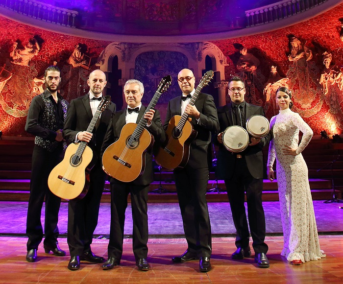 A spectacular tribute to Paco de Lucía - Three internationally renowned guitarists combine with one of the most exciting pairs of flamenco dancers in the country to deliver an unforgettable concert fusing flamenco and Spanish guitar.