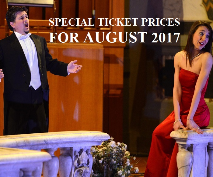 Soprano and Tenor opera singers will perform the best of the best of Italian Opera by Verdi, Puccini and other composers, accompanied by a grand piano