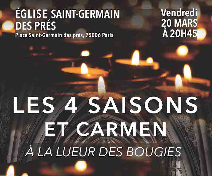Les 4 Saisons et Carmen à la lueur des bougies