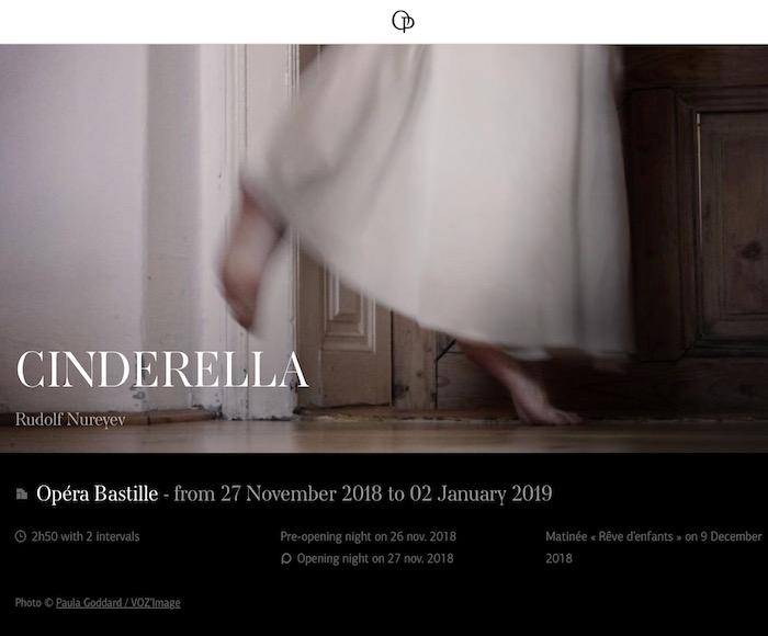 CINDERELLA, Ballet