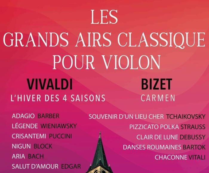 Les Grand Airs Classique pour Violon