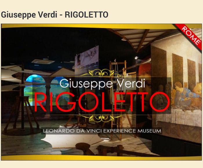 RIGOLETTO at LEONARDO DA VINCI MUSEUM