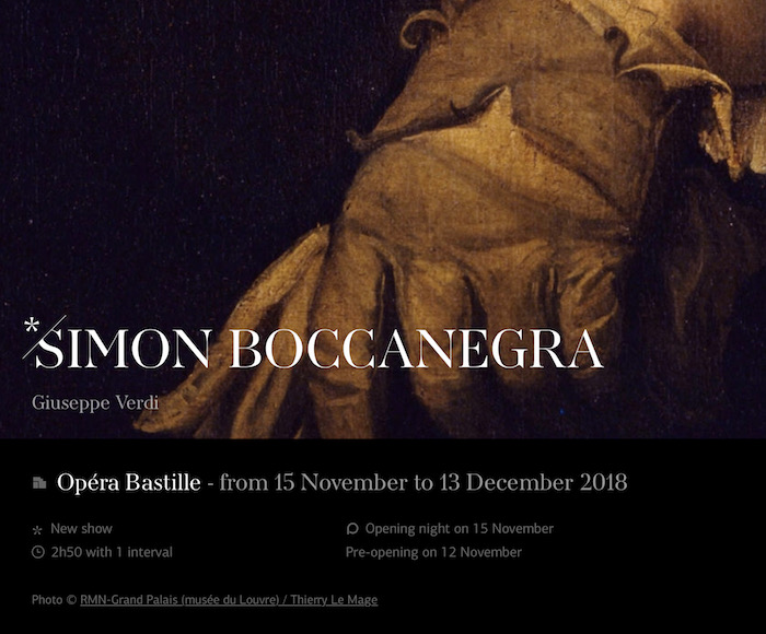 SIMON BOCCANEGRA (from 15 November to 13 December 2018)
