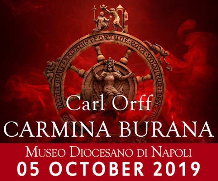 Museo Diocesano di Napoli there will be the Carmina Burana, a collection of religious and secular songs discovered in the Benediktbeuern Abbey and composed by itinerant clerics, the so-called goliards or clerical vagantes, from the 12th to the 13th centur