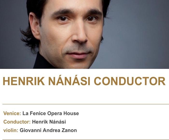 Conductor: Henrik Nánási - violin: Giovanni Andrea Zanon - La Fenice Orchestra - F. Schubert Symphony No. 6 in C Major D 589 - B. Bartok Violin Concerto SZ 36 - Concerto for Orchestra Sz.116