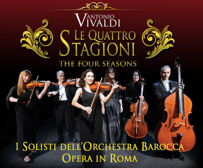 "Journey back to the 18th century with the ""Opera in Roma"" Baroque Orchestra. Principally the choice of works gives an impression of an authentic concert of the baroque era!"